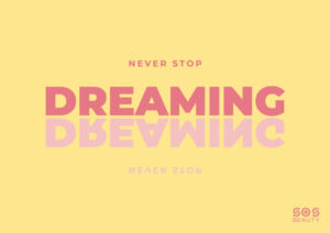 never stop dreaming - illustrazione
