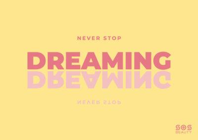 never stop dreaming - illustrazione